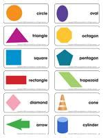 printable spanish shapes flash cards geometric shapes flash cards pictures to pin on pinterest