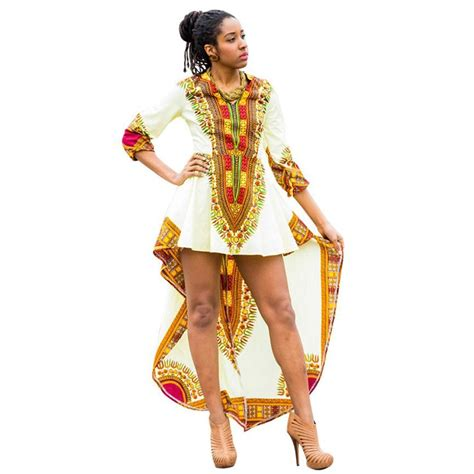 african bohemian style african print three quarter bohemian dress thedashiki com