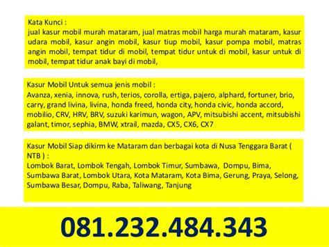 Kasur Untuk Mobil Xenia 081232484343 jual kasur mobil mataram dan matras mobil