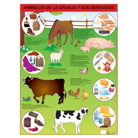 imagenes de animales y sus derivados poster animales de la granja y derivados c b
