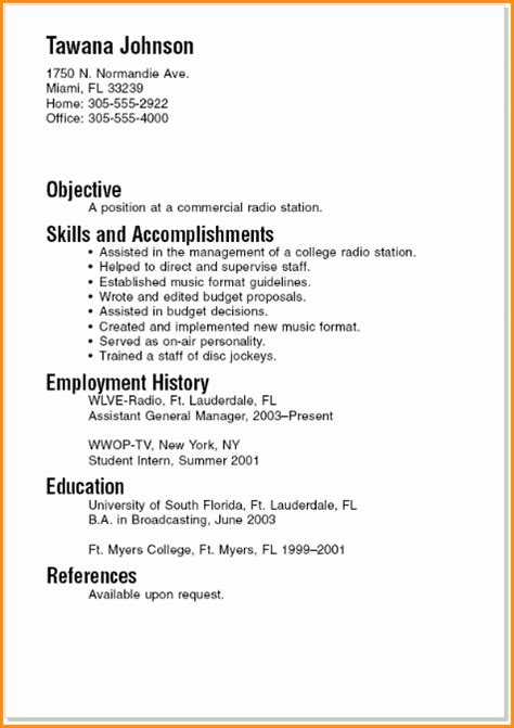 10 good resume sle for college student invoice