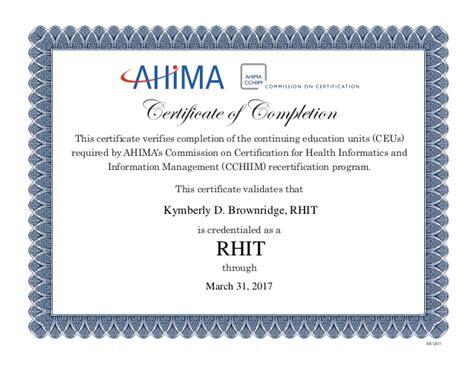 certification rhit 1