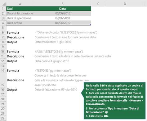 Testo Per Un Ora D by Combinare Il Testo Con Una Data O Un Ora Supporto Di Office