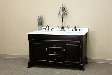 Espresso Bathroom Vanities Bellaterra Home Bathroom Vanity Antique Espresso Finish White Marble Top
