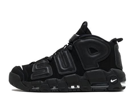 Nike Uptempo X Supreme Gold Premium silver black womens nike air more uptempo shoes