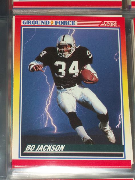 football cards value bo jackson 1990 score quot ground quot football card
