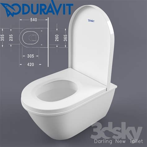 duravit toilet lid 3d models toilet and bidet duravit darling new toilet