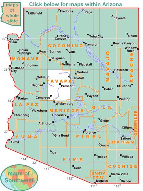 map of arizona prescott index of historic maps and aerial photos