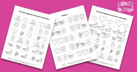 pattern recognition lyrics seas worksheets for kindergarten ab pattern seas best