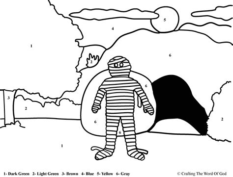 coloring pages of jesus and lazarus lazarus raised from the dead color by number coloring
