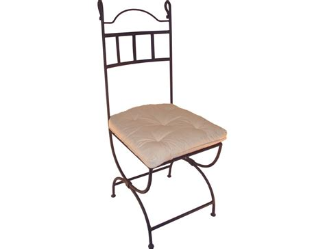 chaise en fer la m 233 tallerie chaise en fer forg 233 avec coussin