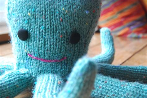 knitted squid was an octopus jo made this