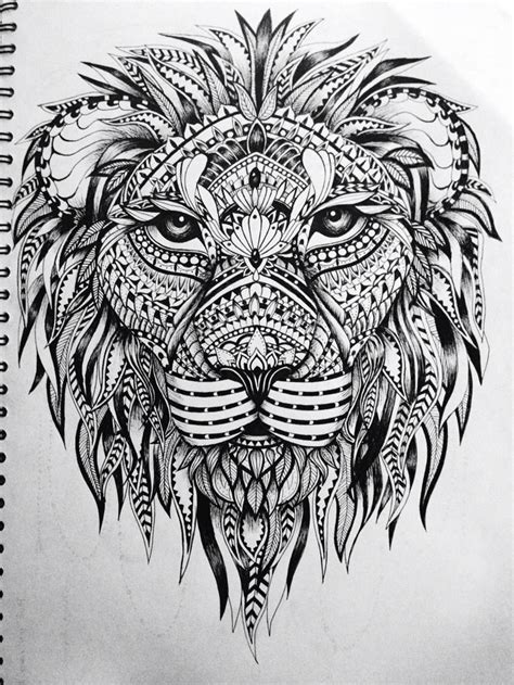 feathered lion tangle zentangle animals pinterest 437 best animals patterned tangled images on pinterest