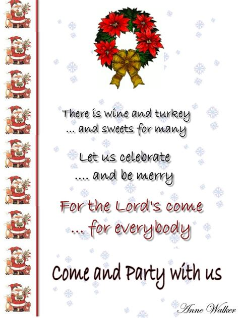christmas invite ryhmes invitation template and wording ideas celebration all about