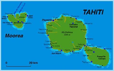julo autour du monde carte de tahiti  moorea