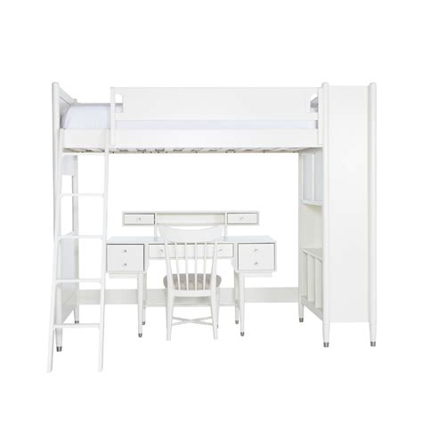 Mid Century Bunk Bed Mid Century Library Bunk Bed In White By Dwellstudio