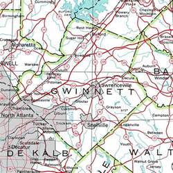 gwinnett county map county of gwinnett georgiainfo