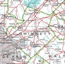 map of gwinnett county georgiainfo