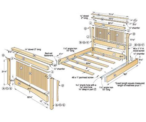 plans queen bed woodworking plans