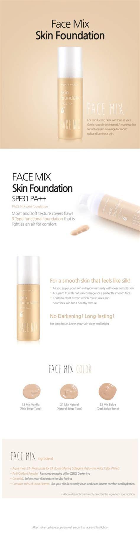 tonymoly mix skin foundation seoul next by you malaysia