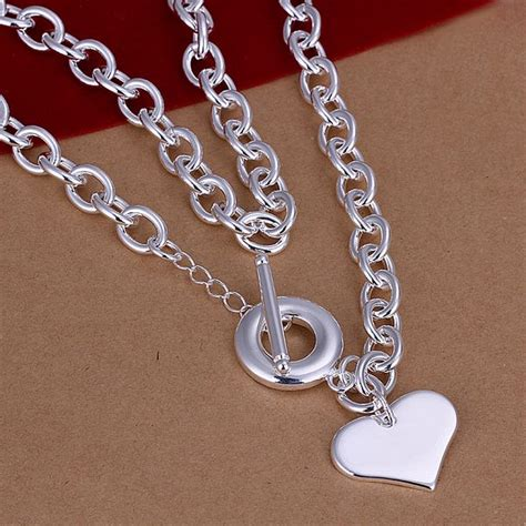 Kalung Murah Korea Chain Metal Leaf Silver new listing selling silver plated necklace fashion trends jewelry gifts licensing large