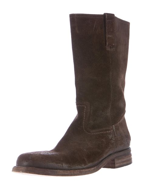 buttero suede mid calf boots shoes w6b20013 the realreal