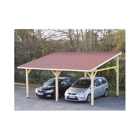 serre en verre 2679 carport pour 2 voitures en bois avec une toiture monopente