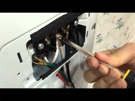 how to wire a 4 wire cord dryer