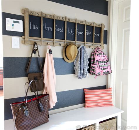 mudroom organization mudroom makeover 100 and a striped wall decorchick