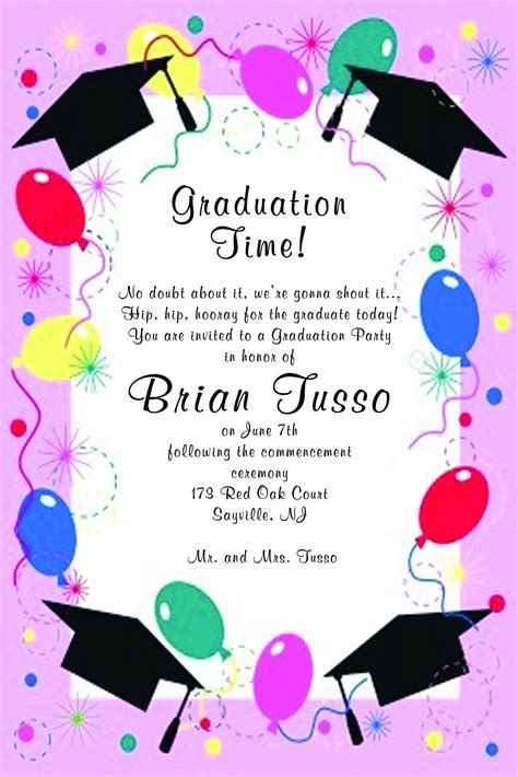 graduation invitation template graduation invitation
