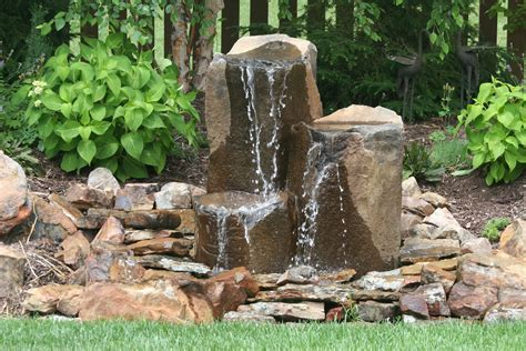 garden rock garden backyard water feature