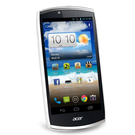 acer android mobile acer cloud mobile s500 pearl white mobile smartphone