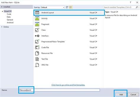 xamarin android login layout xamarin android create login using sqlite database