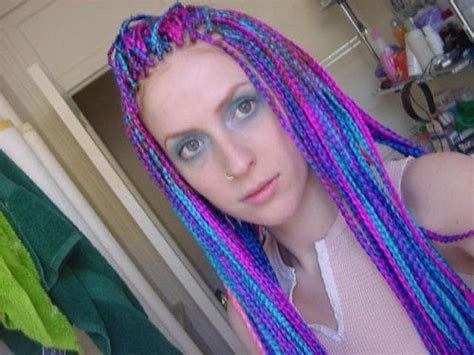 pink black n blonda braids i think i might do something like this with my hair but