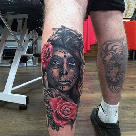 day of the dead tattoo for men 70 day of the dead tattoos for mexican designs