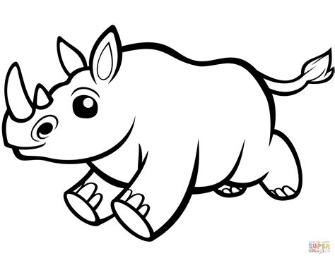 rhino coloring page baby rhino coloring page free printable coloring pages