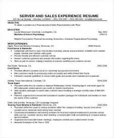 Waitress Resume Template   6  Free Word, PDF Document