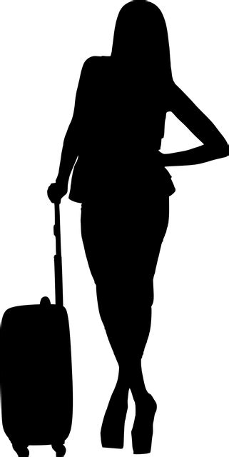 Silhouette Travel Woman - Free vector graphic on Pixabay