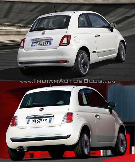 Fiat 500 Upholstery 2016 Fiat 500 Facelift Vs 2007 Fiat 500 Old Vs New
