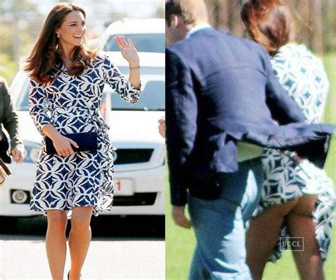 Getting A New Wardrobe by Kate Middleton Suffers Wardrobe As Dress Was Pictured Blowing Up Around