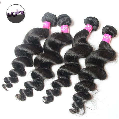 bundle hair styles with swoops 7a brazilian loose wave human hair styles wholesale
