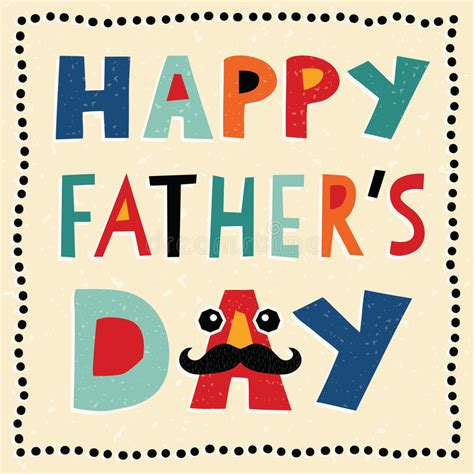 s day card template for my happy fathers day card with made text stock vector
