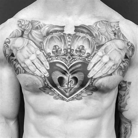 50 claddagh tattoo designs for men irish icon ink ideas