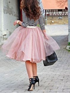 Rok Tutu Katun Salur Pink tulle skirt plaid shirt fashion and clothes i tulle skirts