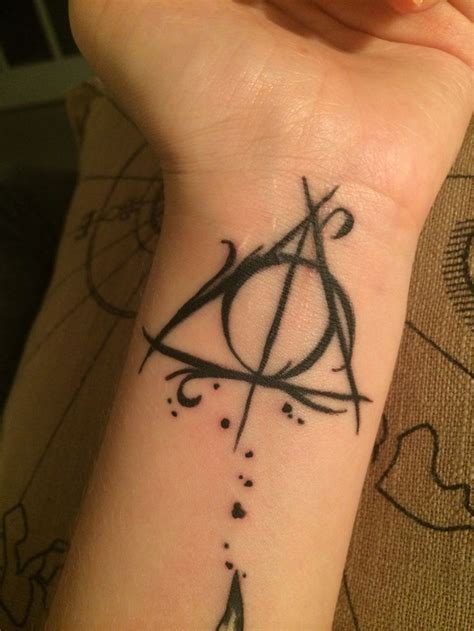always tattoo designs deathly hallows designs ideas and meaning