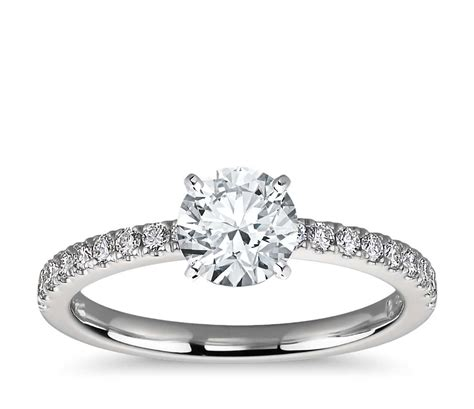 Pave Ring by Pav 233 Engagement Ring In Platinum 1 4 Ct