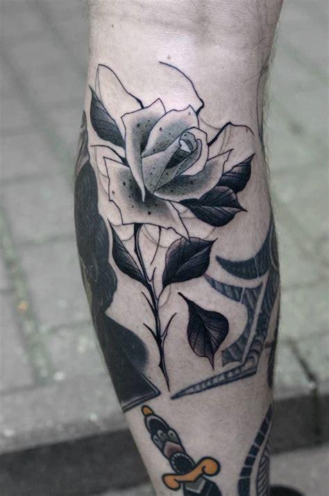 black rose tattoo on leg tattoos askideas
