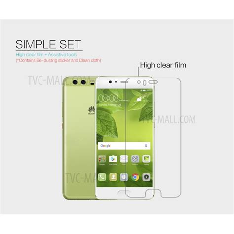 nillkin for huawei p10 anti fingerprint hd clear lcd