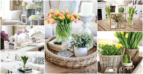 coffee table flower decorations spring coffee table decor see how they did it