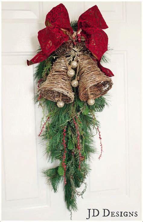 christmas bells door decoration best 25 door swag ideas on swag swag swag shop and swags